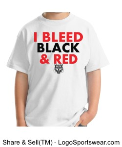 Gildan I Bleed - Black YOUTH Design Zoom