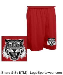 "Tiger Basketball Shorts - ADULT (9"") Design Zoom"