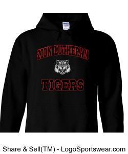 Gildan Tigers Hoodie - YOUTH Design Zoom