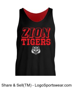 Reversible Tigers Tank - ADULT Design Zoom