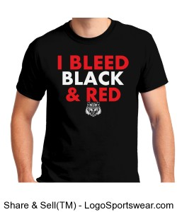 Gildan I Bleed Black - ADULT Design Zoom