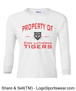 Property of Zion Long Sleeve Tee - YOUTH Design Zoom