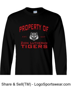 Property of Zion Long Sleeve Tee - ADULT Design Zoom