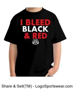 Gildan I Bleed Black - YOUTH Design Zoom